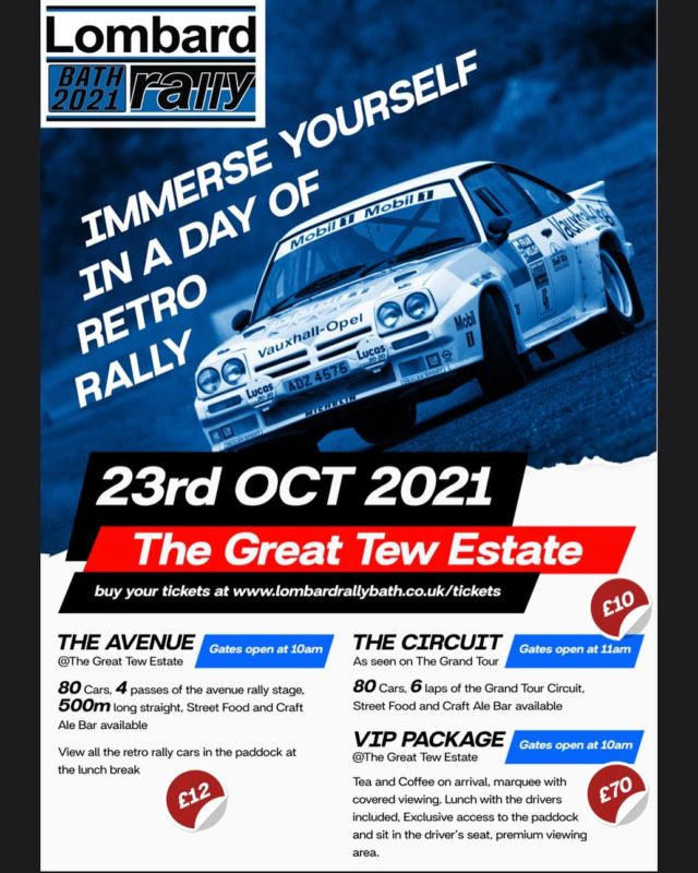 Immerse yourself in a day of Retro Rally. This Saturday 23rd October on the Great Tew Estate.  Get your tickets from www.lombardrallybath.co.uk/tickets   #rally #retro #rallycar #greattew #greattewestate